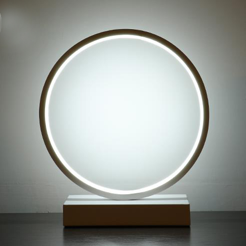 Hot modern circle led table light acrylic desk lamp for - Lampe cercle led ...