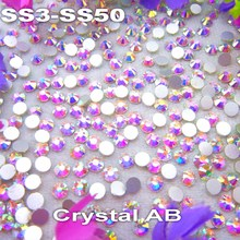 Non hotfix SS6 1.9-2.0mm 1440pcs Crystal AB color Glue on Flat Back Glass Rhinestones for Nail Art handicrafts Diy decoration crystal color ss16 1440pcs lot diamond hotfix rhinestones glue on perfect for craft and sewing clothes nail art diy decoration
