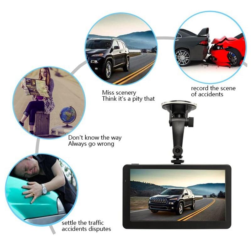 7 дюймов грузовик GPS навигации Android 4.4.2 Системы загрузить новейшую map обратного видео AV-во встроенной памяти: 8 г bluetoothfm