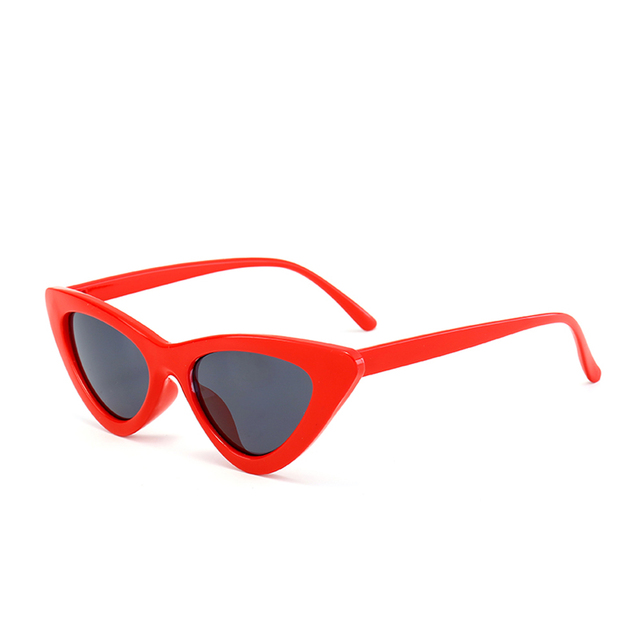 Peekaboo cute sexy retro cat eye sunglasses women small black white 2018 triangle vintage cheap sun glasses red female uv400 1