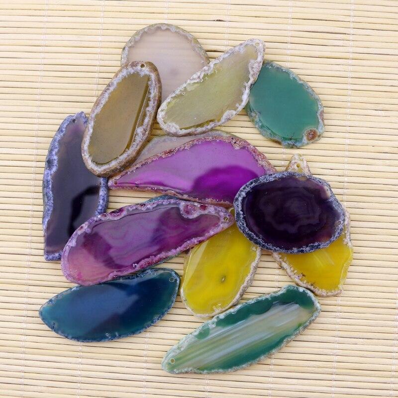 Shitje me shumicë 1 copë Ngjyra ngjyrosëse varëse me rrathë gjeodezi Druzy për bizhuteri Marrja e rruazave me gur natyral