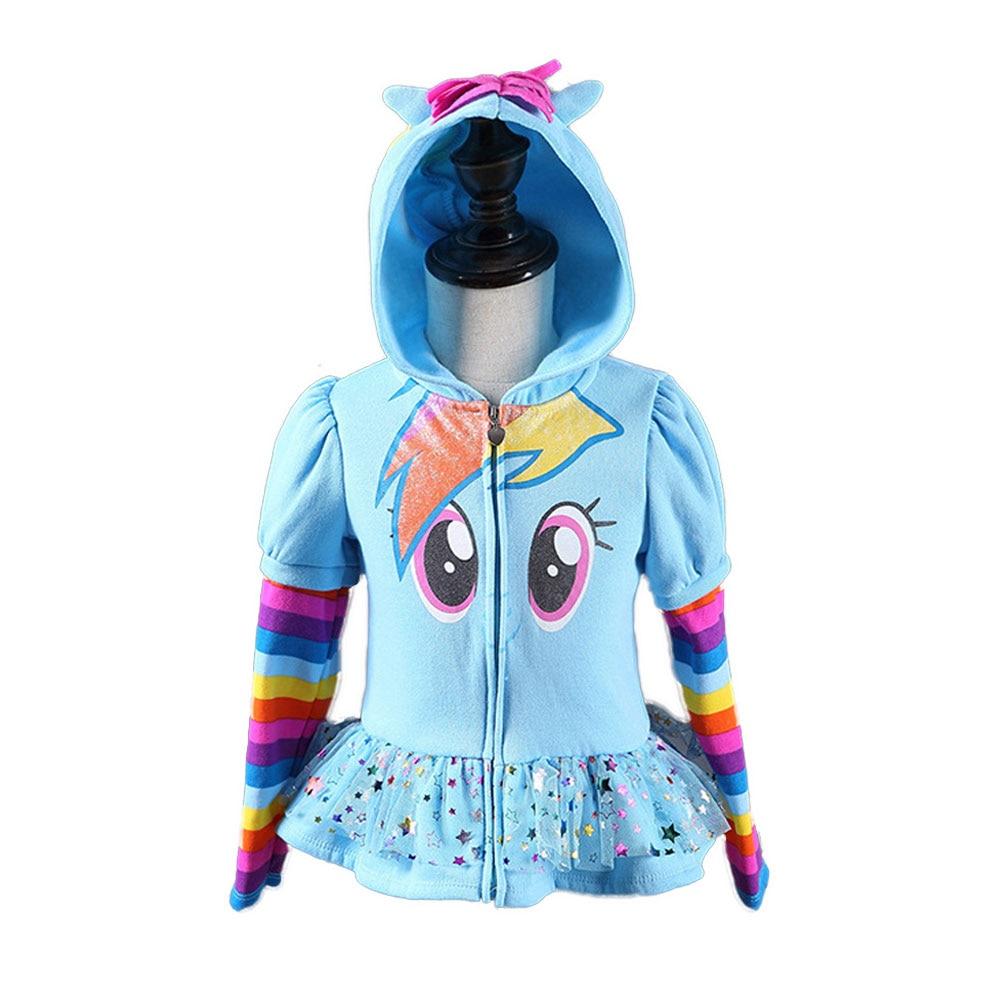 2018 Módní dětské pončo dětské oblečení Bavlna Stripe s dlouhým rukávem Bunda Dětský zip Zipper Kabát Roztomilé Dívky Kreslené Oblečení