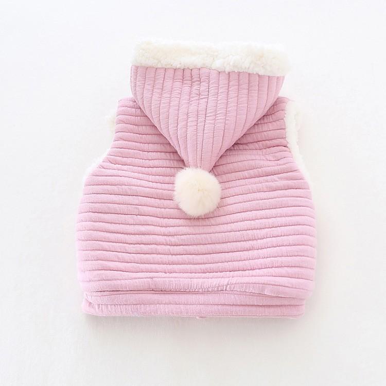 baby girl winter warm fleece vest jacket waistcoat hooded (2)