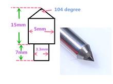 Talentool jeden punkt diament komoda darmowa wysyłka nowy diament frez CNC diament przeciągnij narzędzia do grawerowania bit 10 sztuk za dużo tanie tanio 104 degree Dachówka