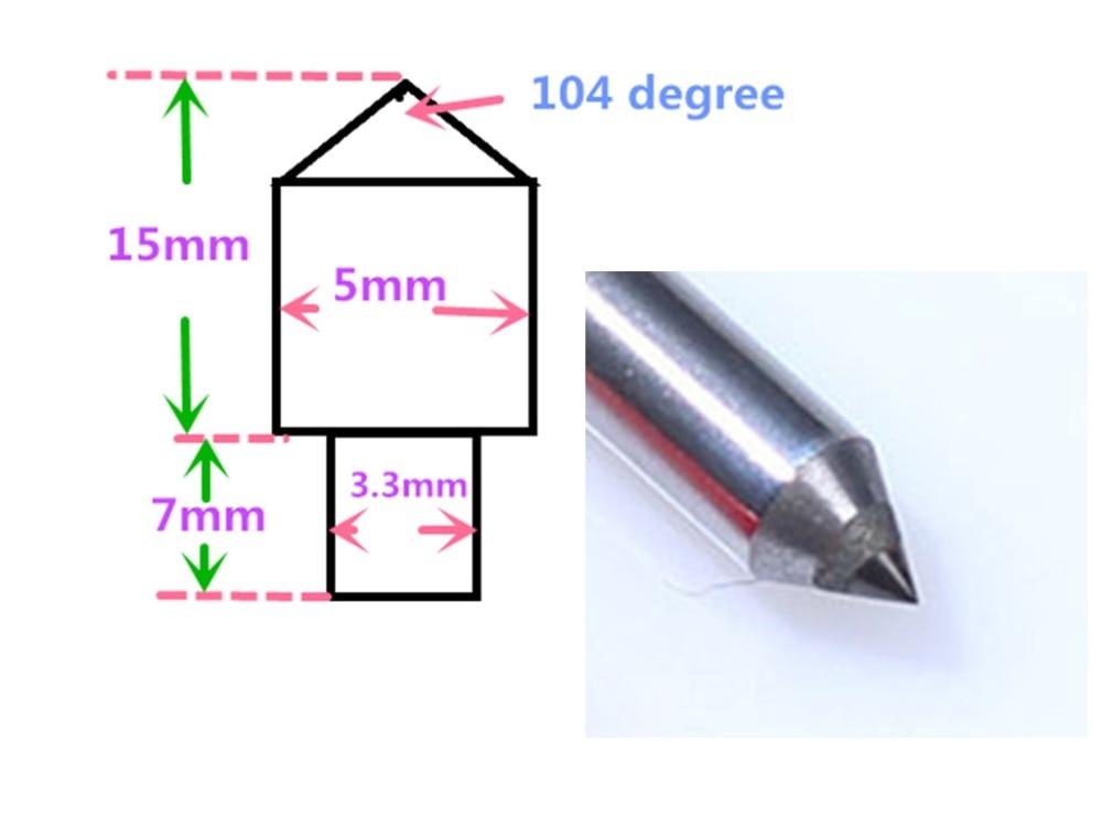 Talentool Single Point Diamond Dresser Free Shipping New Diamond Cutter CNC Diamond Drag Engraving Tool Bit 10pcs Per Lot
