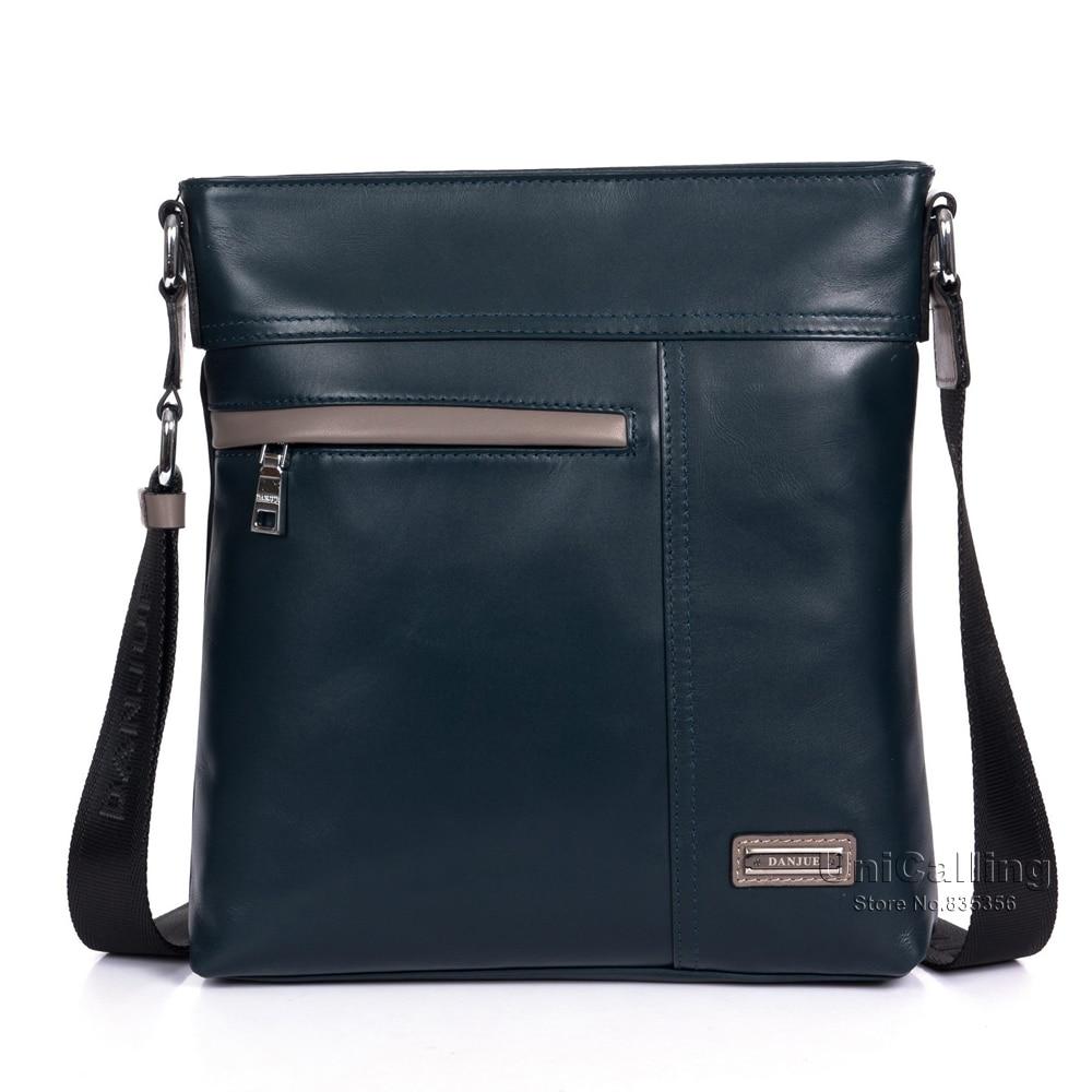 ФОТО Brand fashion male casual leather messenger bag high quality men genuine leather shoulder bag Top Layer cowhide men bag leisure