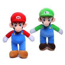 1PCS High Quality Super Mario Soft Plush MARIO LUIGI 9SUPER BROS PLUSH DOLL