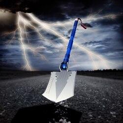 1pc outdoor camping magiczny kształt łopata stalowa wielofunkcyjna łopata składana narzędzie survival łopata latarka łopata nóż