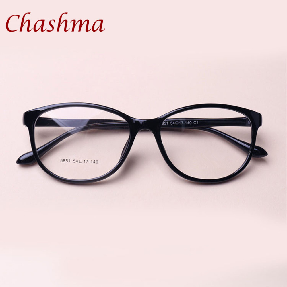 Chashma Brand TR 90 Cat Eyes Black Brown Eyeglasses Fresh Myopia Spectacle Student Fashion Prescription Glasses Frame Women