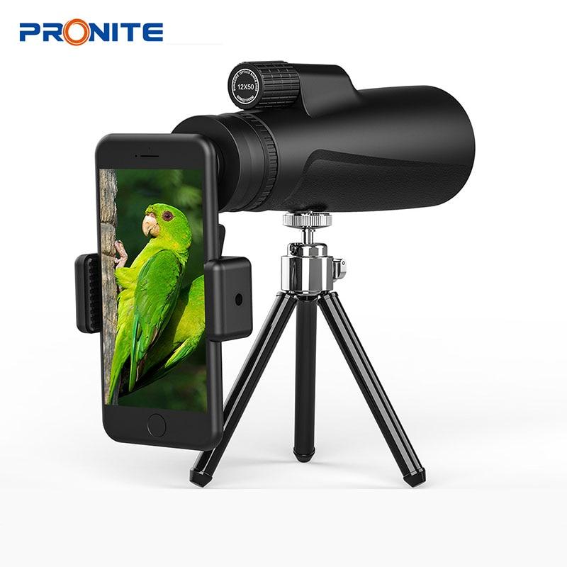 Adult Kids Monocular Zoom 12x50 BAK4 Prism Telescope HD Night VisionProfessional Hunting Scopes Turizm Opera Spyglass