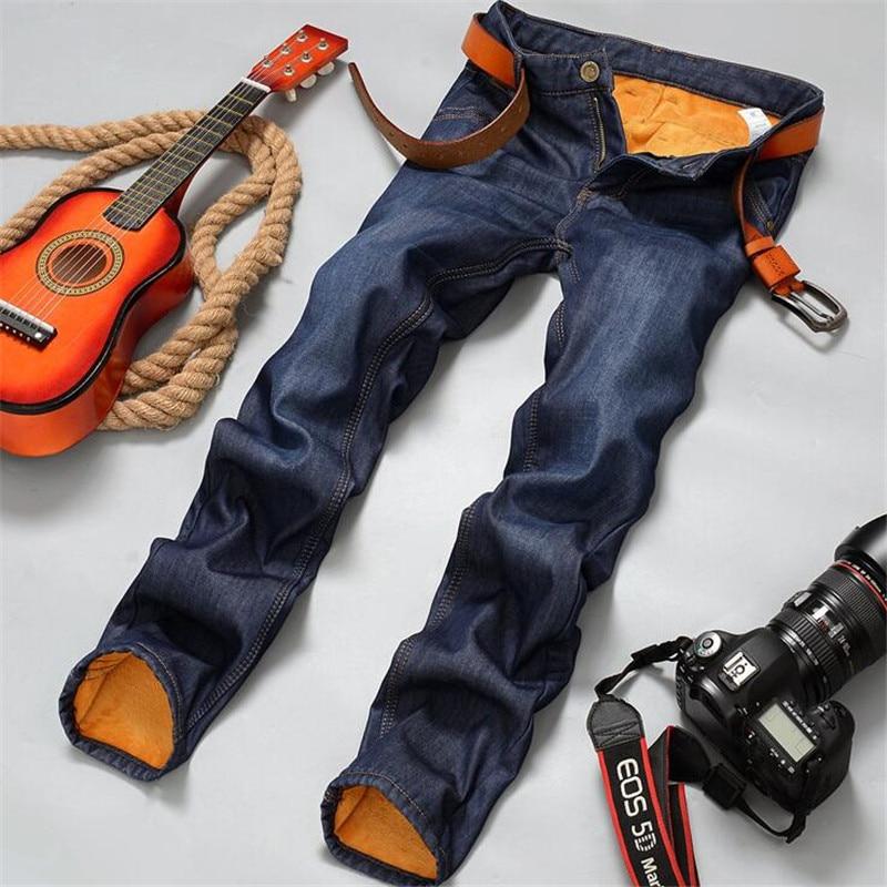 Brand New Mens Fleece Fodrade jeans, Mode Varm jeans Höst Vinter - Herrkläder - Foto 2