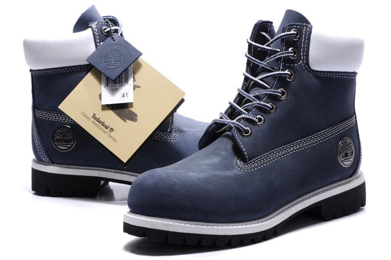 100% Original TIMBERLAND Women 10061 Blue Winter Ankle Boots,Woman Female Silver Metal Genuine Leather Outdoor Warm Walk Shoes  1