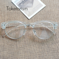 Retro Classic eyeglasses Half Metal Frame clear lens glasses men women gafas W5188