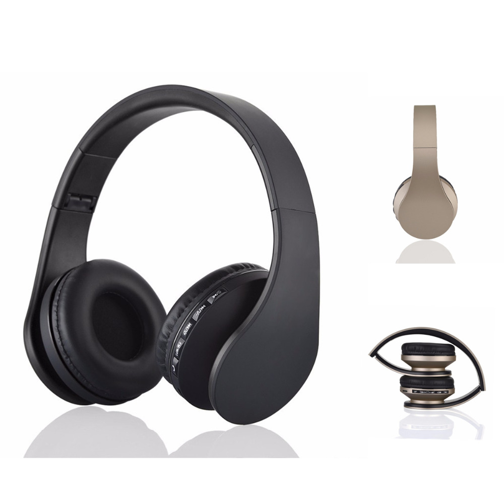 JRGK Bluetooth Wireless Headphone With Mic Portable 4 in headset Support TF Card FM radio Foldable Earphones for PC Moblie phone 20w bluetooth4 1 speaker wireless hifi portable feature fashionable appearance design and high 5000mah support tf card with mic