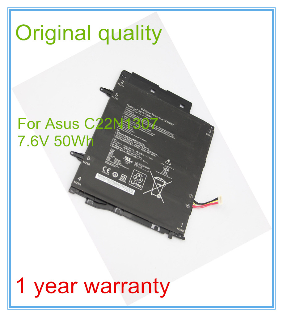 цена на 7.6V 50WH original C22N1307 battery for Notebook T Series T300LA C22N1307 Free shipping