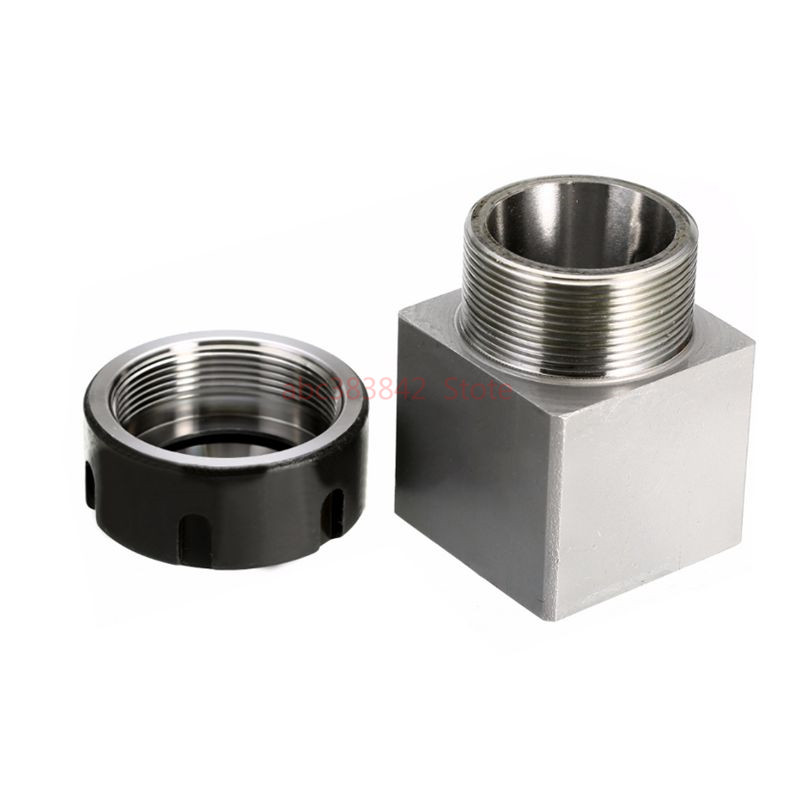 Image 3 - 1pcs square ER32 ER25 ER40 chuck block hard steel spring chuck seat, suitable for CNC lathe engraving and cutting machine-in Tool Holder from Tools