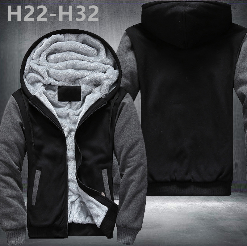 Neue Design Fußballmannschaft Hoodies Zip Up Druckmuster Mäntel Super Warm Verdicken Fleece männer Mantel USA NO.4 größe 1 grau