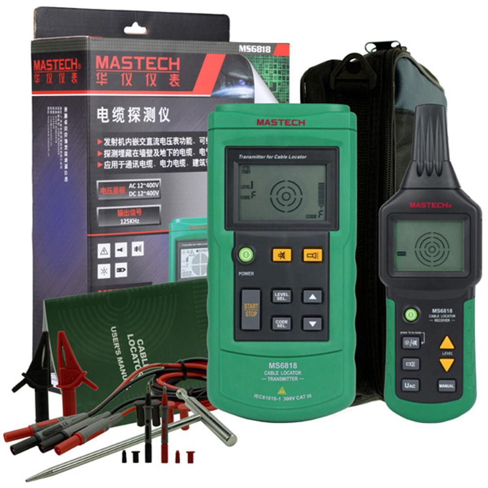 Mastech Ms6818 Cable Tester Advanced Cable Tracker Pipe