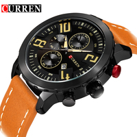 Curren Watches Men Top Brand Luxury Cow Leather Strap Quartz Watches Sport Men S Watches Waterproof
