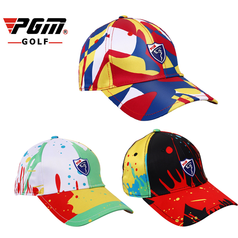 PGM Golf Colorful Cap For Women One Size Polyester Print Sunproof Breathable Womens Sports Cap Golf Hat Casquette Gorras