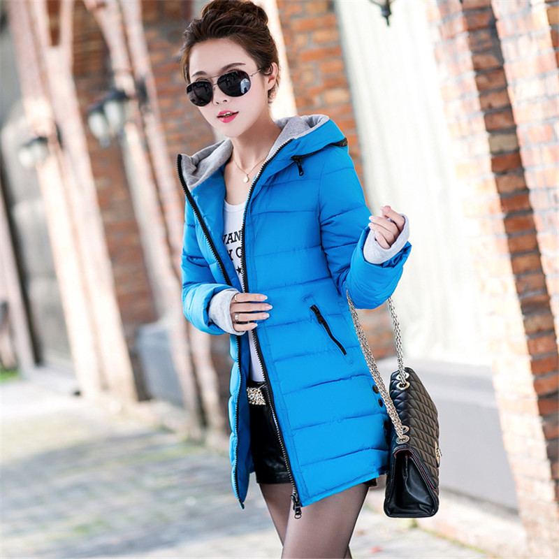 Long Section Thick Cotton Padded Jacket Women Winter Coat Loose Zipper Wadded Parka Female Women Warm Outerwear  parkaTT222 x long cotton padded jacket female faux fur hooded thick parka warm winter jacket women solid color wadded coat outerwear tt763