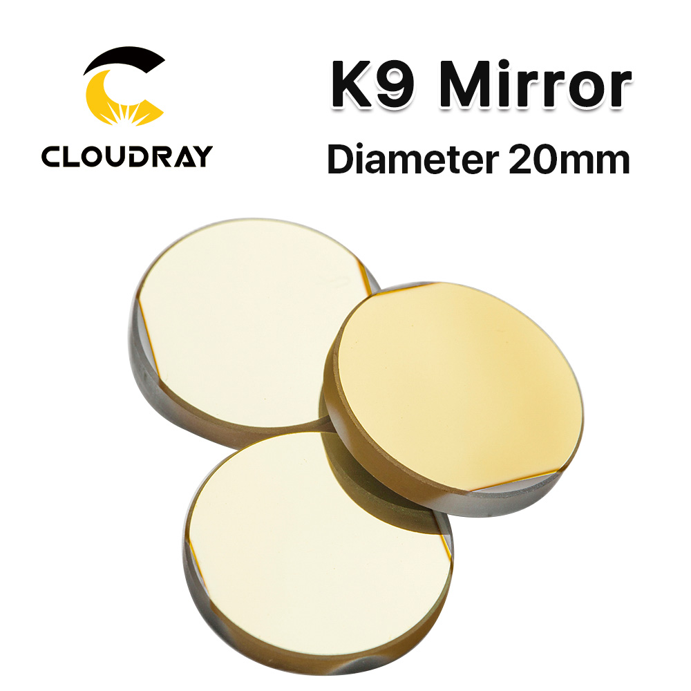 Diameter 20 mm K9 CO2 laser reflection mirror glassmaterail with golden coating for laser engraver cutting Machine reflection