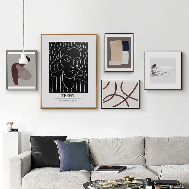 Abstract Geometric Europe Figure Canvas Printings Paintings