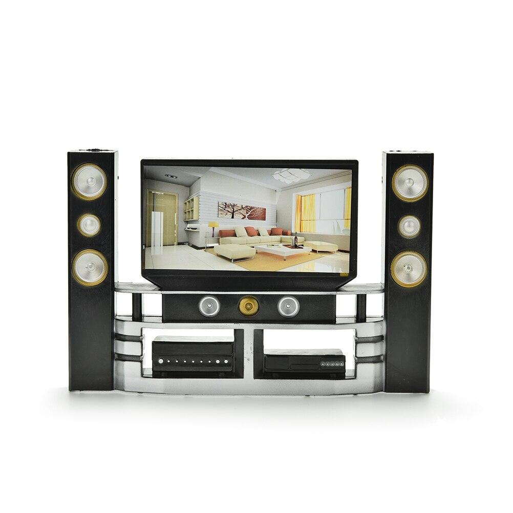1 Pc Popular Mini Hi-Fi 1:6 TV Home Theater Cabinet Set Combo Dolls Accessories For Doll Hotsales