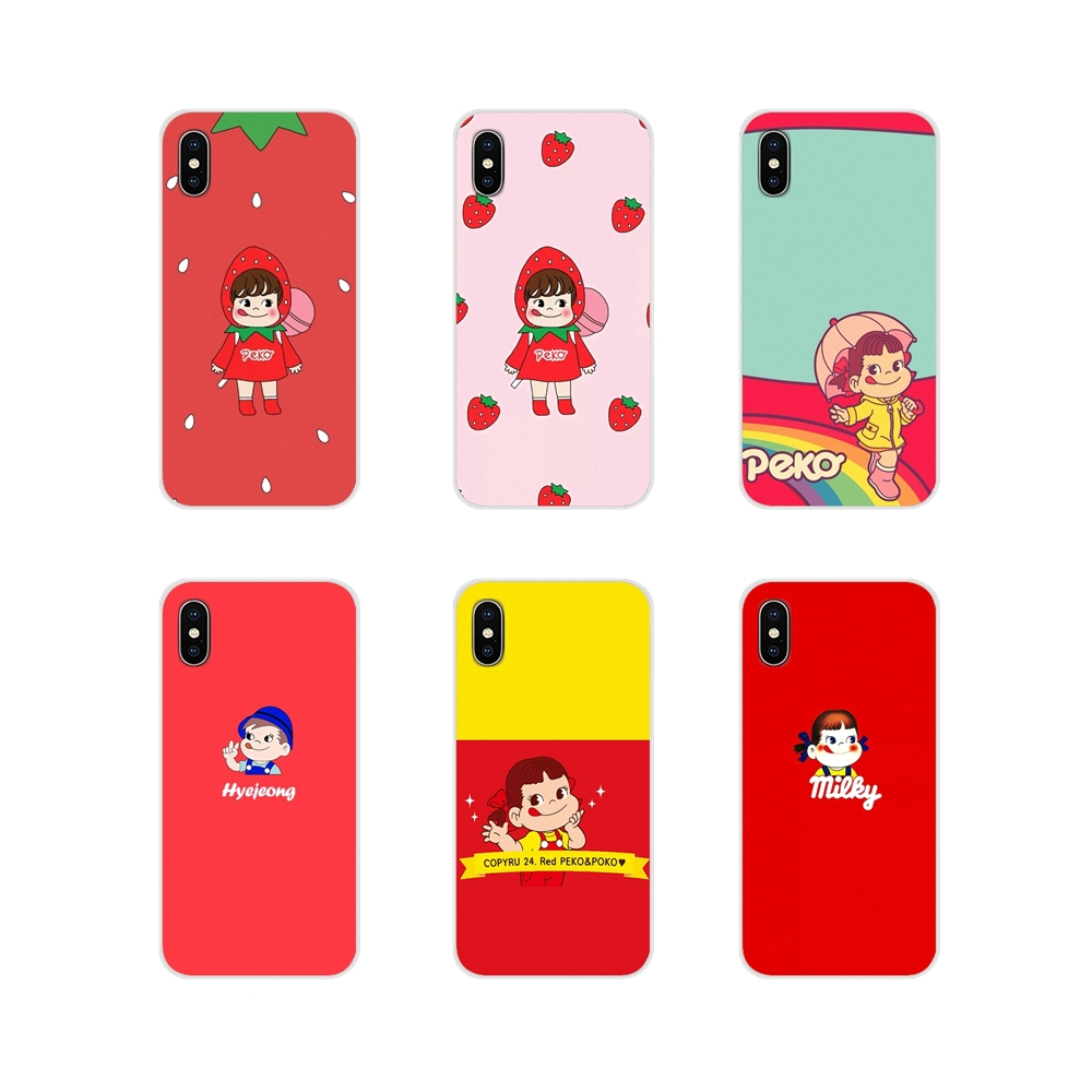 Accessories Phone Cases Covers For Samsung Galaxy S4 S5 MINI S6 S7 edge S8 S9 S10 Plus Note 3 4 5 8 9 Fujiya Milky Peko chan