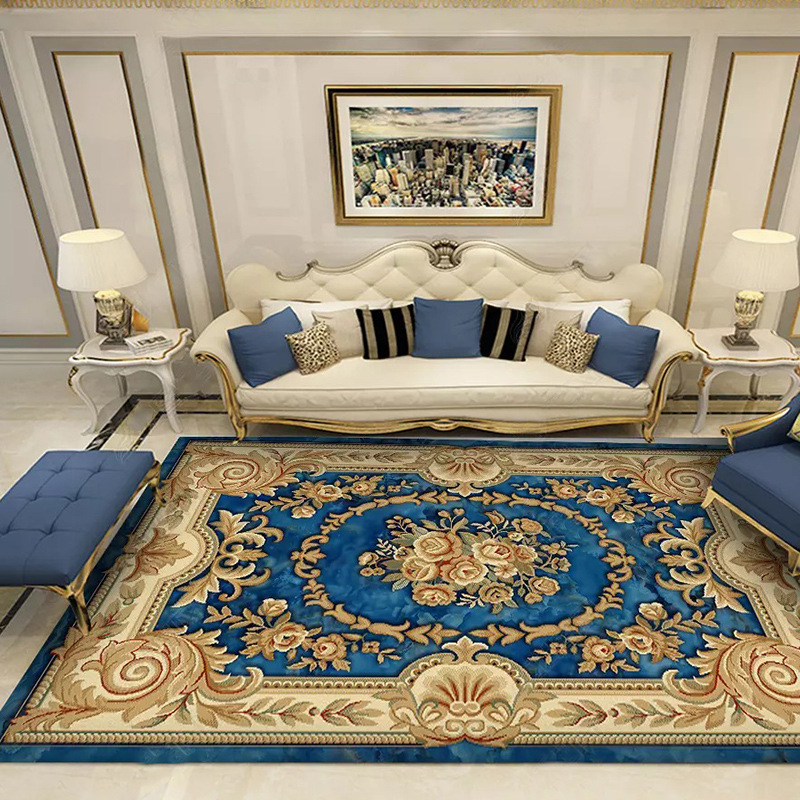 European Style Soft Carpets For Living Room Rugs Home Carpet Floor Door Mat Soft Delicate Area Rugs Delicate Printed Rugs Carpet