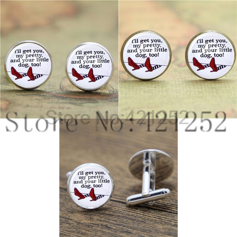 Wizard of Oz Ill Get You My Pretty, Wicked Witch of the East Necklace keyring bookmark cufflink earring