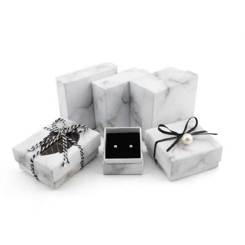 Коробочка для драгоценностей кольца, шкатулки/серьги/браслет ожерелье для хранения маленькая Подарочная коробка DIY ремесло витрина упаковка Свадьба/и т. д. Wh