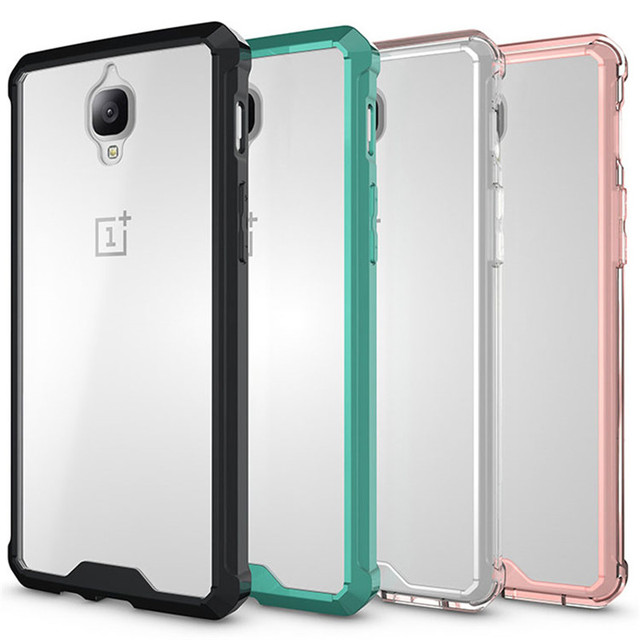 the latest a6037 242b9 US $3.02 24% OFF|For Oneplus 3T Case A3003 Crystal Hybrid Bumper Clear Hard  Acrylic Back Cover For Oneplus 3T One Plus 3 3T Phone Cases Coque -in ...
