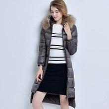 XMY3DWX High-End Brand Ladies Winter Warm Coat Women Ultra Light Filling Prower Long White 90% Duck Down Jacket Women Jackets