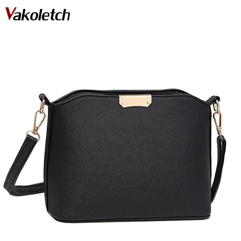 Women Messenger Bag Handbag PU Leather Women Leather Handbag Belt Strap Women Shoulder Bags Fashion Female Purse Zipper Flap K95