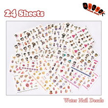 Nail 24Sheets Lot Mixed 24 Designs Betty Boop And Sailor Moon Art Water Sticker Decal For Decoration 09