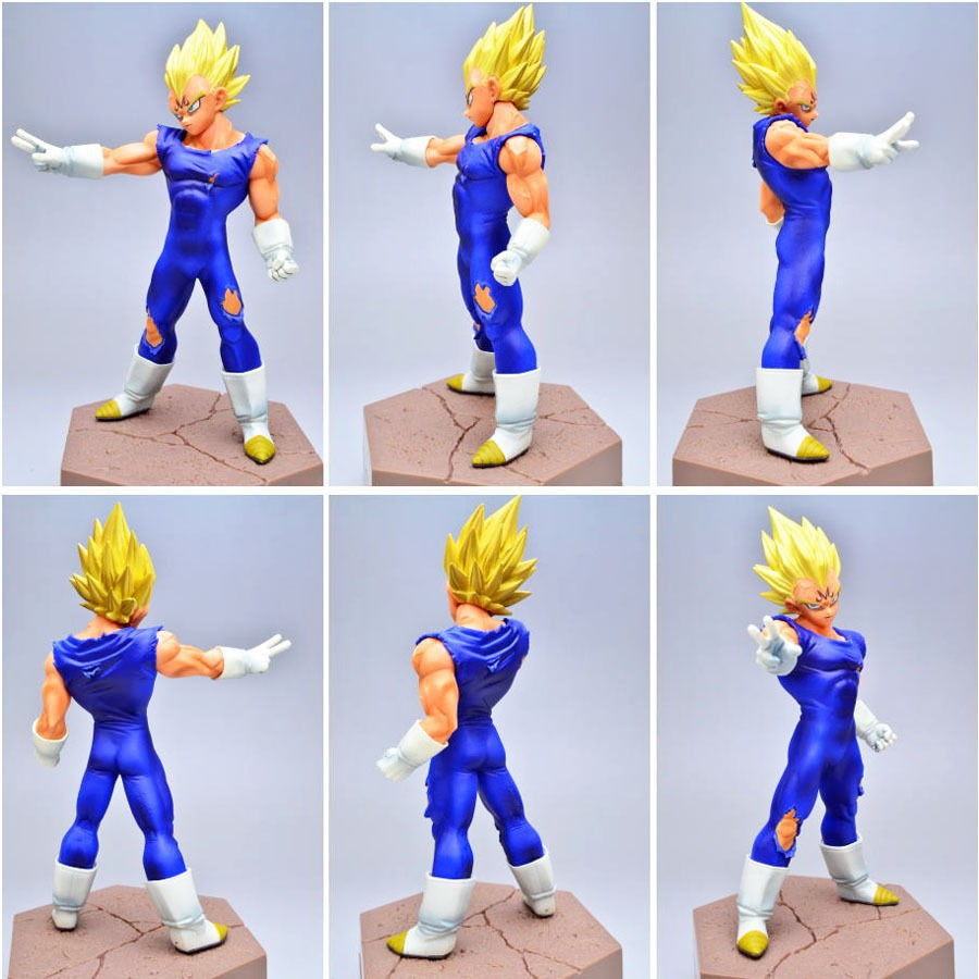 цены Dragon Ball Z Vegeta Figure DXF Super Saiyan Prince Vegeta 14CM Dragon Ball Z Kai Collectible Model Toy Figuras 10A