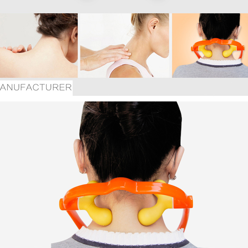 Neck Massagers U-shaped Adjustable Trigger Point Office Workers Massager Manual Hammer Fitness Personal Health Products health awareness among continuing education workers