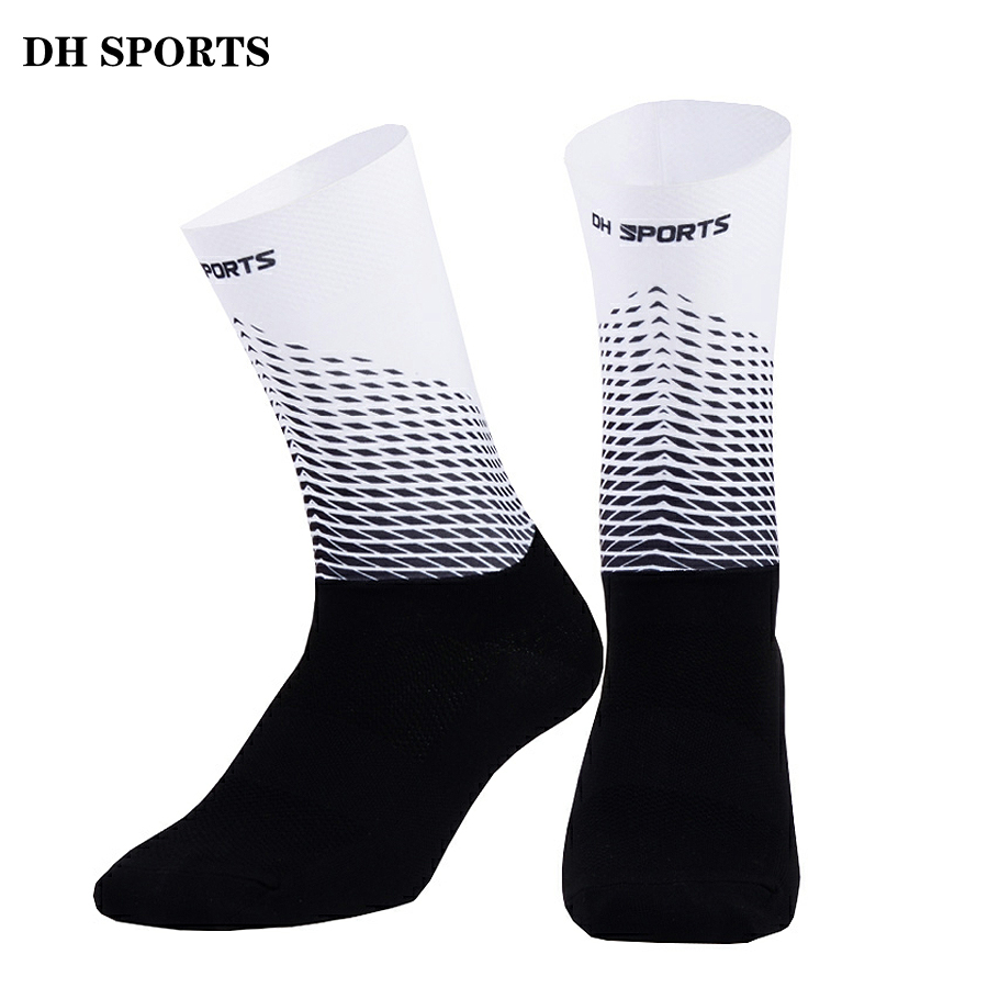 2019 New Anti Slip Cycling Socks Men Women Integral Moulding High-tech Bike Sock Compression Bicycle Outdoor Running Sport Socks