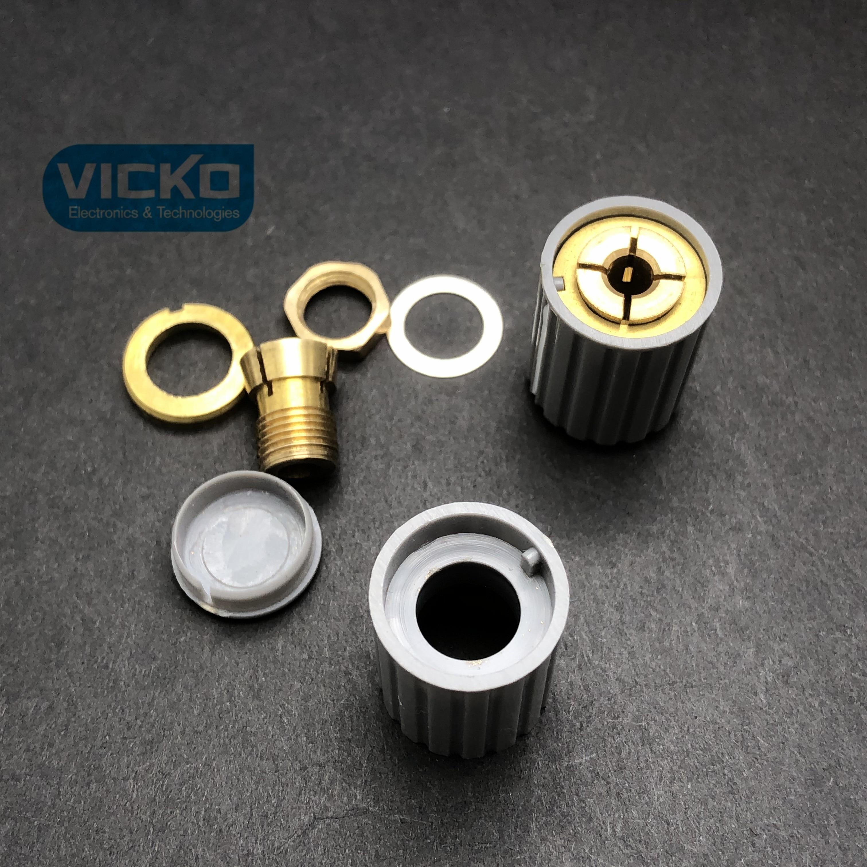YK Potentiometer adjustment knob hat handle KYZ20 16 4J 6J copper core aperture 4MM 6MM