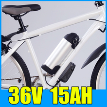 36V 15AH Kettle Cylindrical Aluminum alloy Lithium Battery Pack , 42V Electric bicycle Scooter E-bike Free Shipping