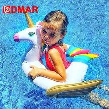 все цены на DMAR Unicorn Inflatable Baby Float Pool Toys for Kids Swimming Ring Pool Party Inflatable Mattress Beach Sea Unicorn Donut онлайн