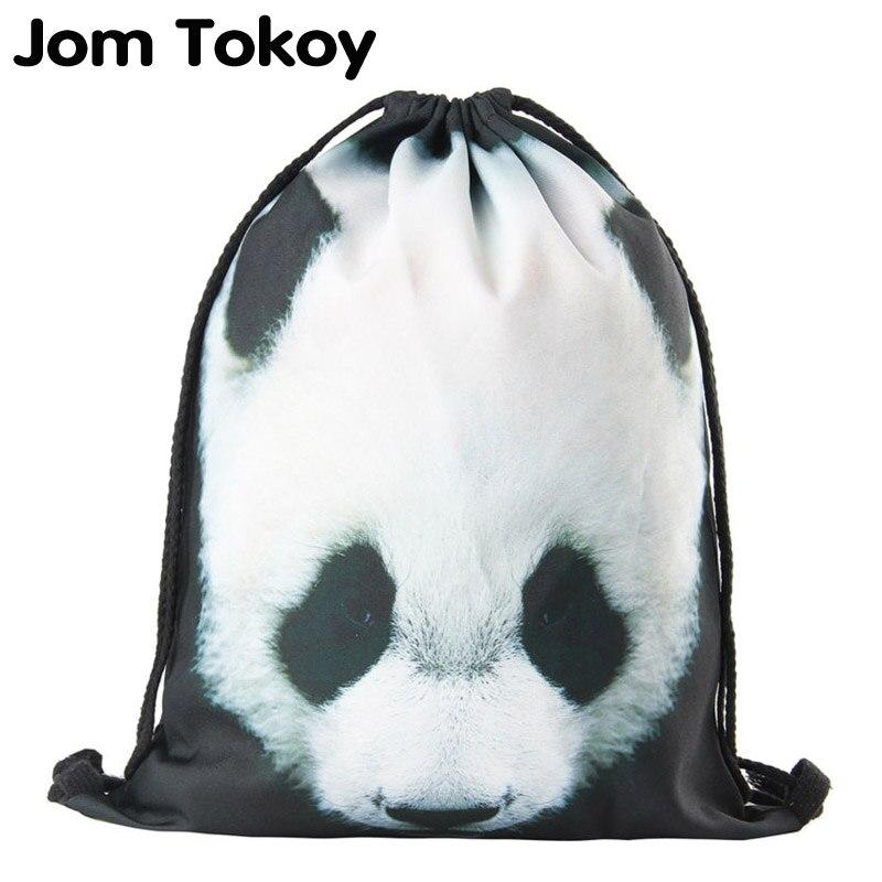 2018 New drawstring backpack women fashion panda Animal patterns drawstring bag new commercial meat grinder hc 800 household electric machine cut chilli ground food dumpling stuffing broken 220v 800w hot sale