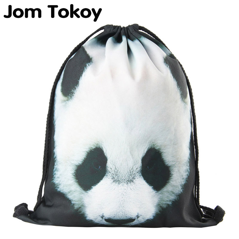 2019 New Drawstring Backpack Women Fashion  Panda Animal Patterns Drawstring Bag