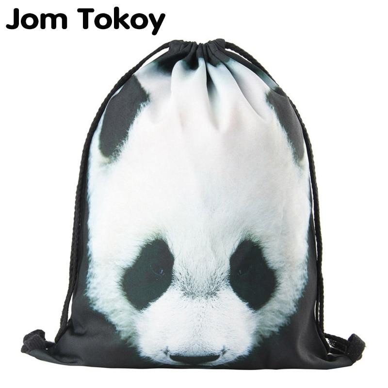 2019 New Drawstring Backpack Women Fashion  Panda Animal Patterns Drawstring Bag