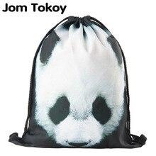 2019 neue kordelzug rucksack frauen mode panda Tier muster kordelzug