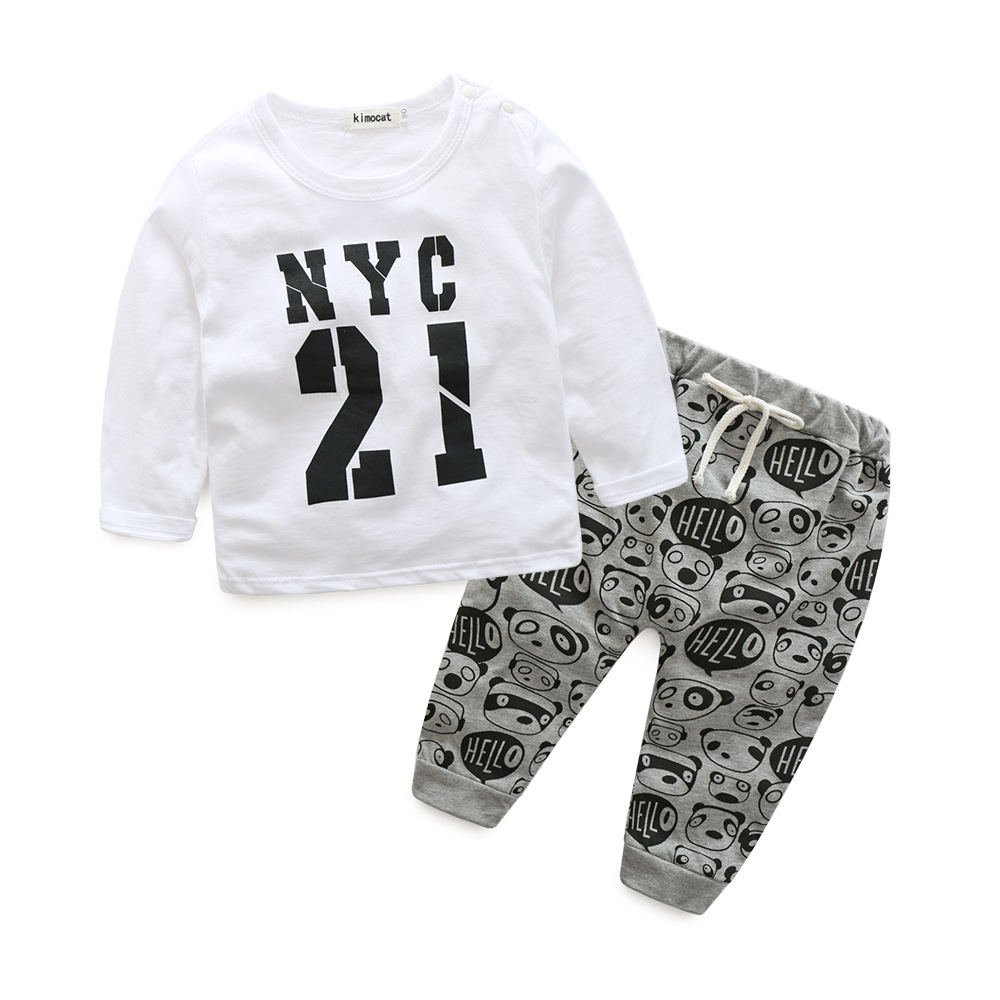 Style letter printed casual baby boys and gils clothes baby newborn baby clothes kids clothes Spring and autumn