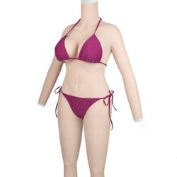 Roanyer силиконовые формы груди Shemal всего тела костюмы с руками транссексуал поддельные груди для трансвеститов мужчин корсет