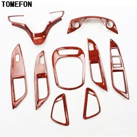 TOMEFON For Chevrolet Cruze 2015 ABS Wood Paint Interior Steering Wheel Gear Shift Window Switch AC Vent Accessories