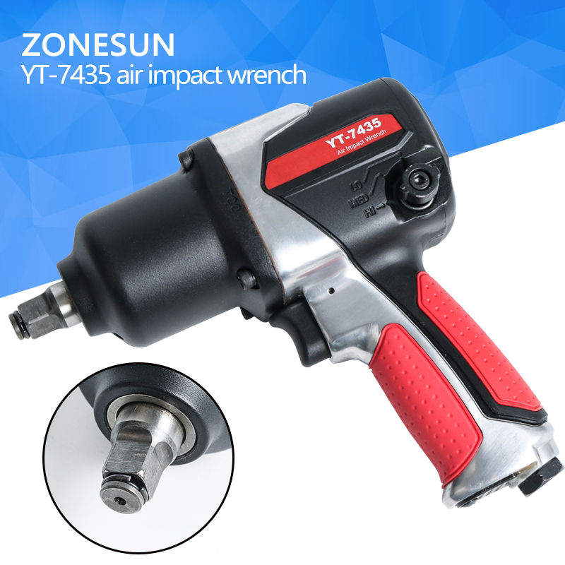 ZONESUN 16mm Bolt size Pneumatic impact Wrench, Air Tools,Spanners for Car Bicycle Repair Pneumatic Tools sat0162 professional pneumatic wrench air impact wrench 3 4 air wrench car bicycle repair tools